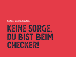 Corporate Design, Webshop und Abo-Konfigurator für Coffee Checker | MOREMEDIA® - Werbeagentur in Linz